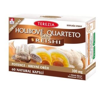 Kvartet iz gob je edinstven prehranski dodatek, ki vsebuje štiri zdravju koristne gobe, v kombinaciji z redkima zeliščema.
