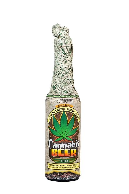Konopljino pivo Euphoria Cannabis, pivo iz konoplje brez THC